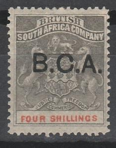 BRITISH CENTRAL AFRICA 1891 ARMS 4/-