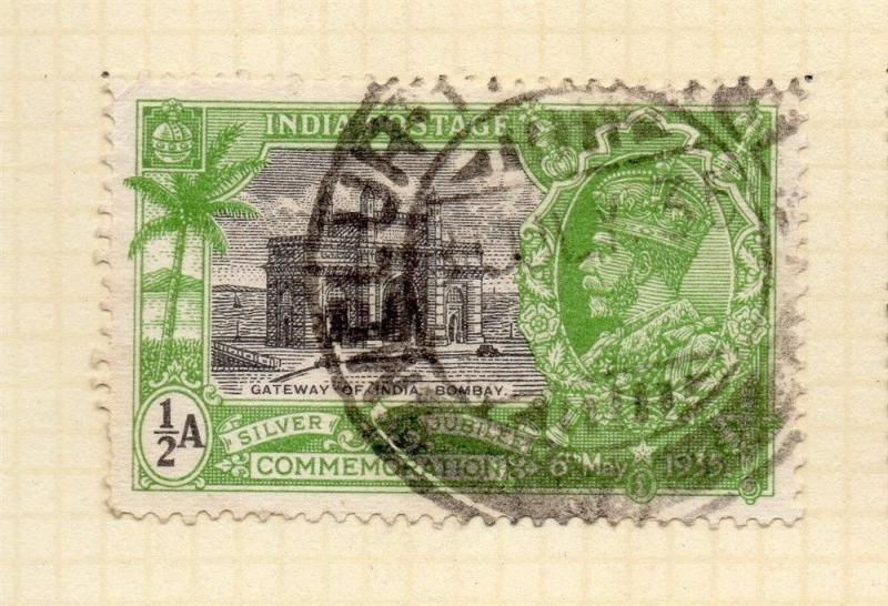 India 1935 Early Issue Fine Used 1/2a. 083631