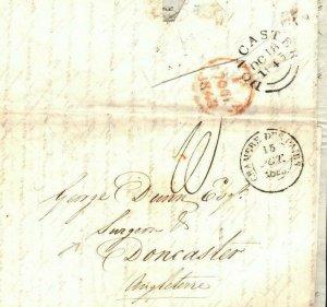FRANCE Cover Paris GB Doncaster SURGEON MEDICAL Contents EL Letter 1843 EP80