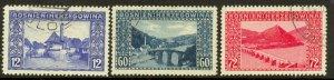 BOSNIA AND HERZEGOVINA 1912 SCENIC VIEWS Set Sc 62-64 VFU