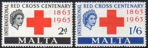 Malta 1963 Red Cross Centenary MH