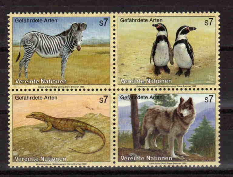 United Nations Vienna - endangered species, MNH, Mi 143-146