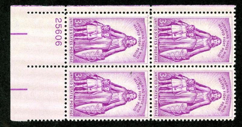 U.S. Scott 1087 FVF MNH Plate Block of 4