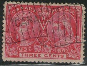 CANADA Used Scott # 53 Queen Victoria (1 Stamp) -3