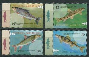 Macedonia 2007 fish marine life set MNH