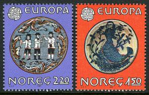 Norway 781-782, MNH. EUROPA CEPT. Folklore, 1981