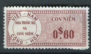 VIETNAM; Early CONG-HOA revenue issue Mint unused 60c. value ( paper adhesion)