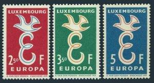 Luxembourg 341-343,MNH.Michel 590-592. EUROPE CEPT-1958.E and dove.