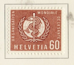 Switzerland Helvetia 1957 Early Issue Fine Mint Hinged 60c. NW-170857