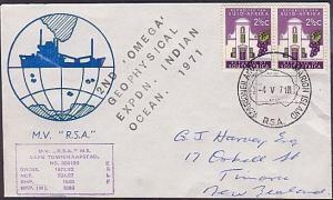ANTARCTIC SOUTH AFRICA 1971 cover OMEGA GEOPHYSICAL Expedition (35546)