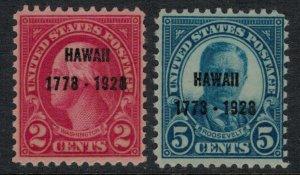U.S. #647* NH,648*  CV $18.25