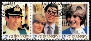 Guernsey 1981 SG. 235-237 Strip used (10833)