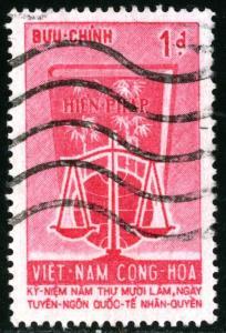 Vietnam - SC #224, USED ,1963 - Item VIETNAM126NS5
