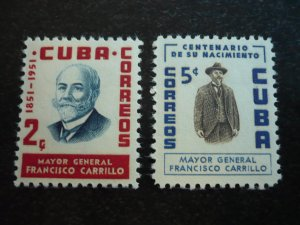 Stamps - Cuba - Scott#537-538 - Mint Hinged Set of 2 Stamps