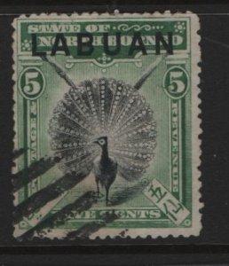 LABUAN, 76, USED, 1897-1900, ARGUS PHEASANT