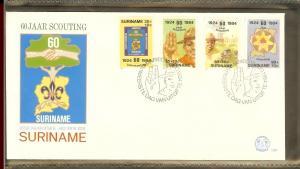 1984 - Rep. Surinam FDC E082 - Organizations - Scouting - 60 years in Surinam...