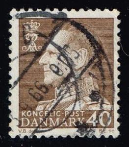 Denmark #417 King Frederik IX (fluor); used (0.50)