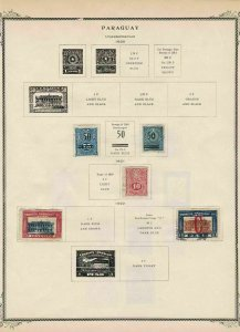 paraguay stamps page ref 17089