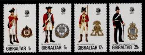 Gibraltar 330-3 MNH Military Uniforms, Crests