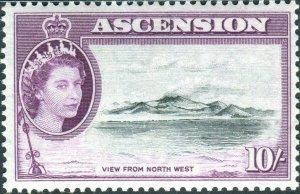 ASCENSION-1956 1d Black & Purple Sg 69 MOUNTED MINT V42697