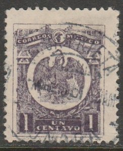 MEXICO 506, 1¢ COAT OF ARMS, USED. VF. (1077)