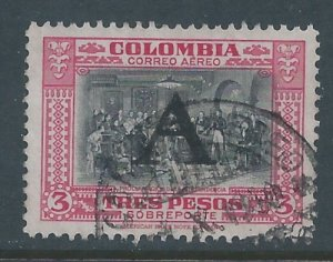 Colombia #C197 Used 3p Proclamation of Independence Ovptd. A