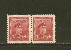 Canada 254 King George VI Pair MNH