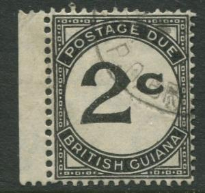 British Guiana - Scott J2 - Postage Due -1940-55 - FU - Single 2c Stamp