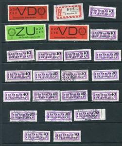 Germany 1958 Accumulation Of Labels Used/Unused