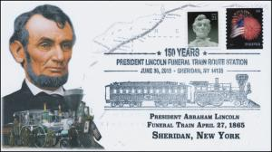 2015, President Lincoln Funeral Train Route, Pictorial, Sheridan NY, 15-352