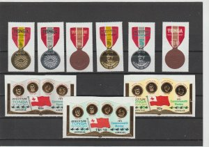 Tonga  Scott#  279-81, C99-101, CO49-51  MH  (1971 Tongan Medal of Merit)