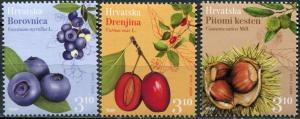 Croatia 2018. Croatian Flora (MNH OG) Set of 3 stamps