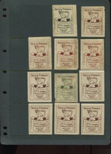 VINTAGE LOT OF 11 1930 MAGIC Poster Stamps SOCIETY OF AMERICAN MAGICIANS (L1125)