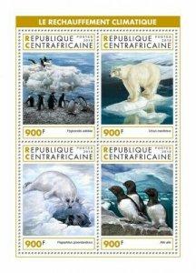 HERRICKSTAMP NEW ISSUES CENTRAL AFRICA Global Warming Sheetlet
