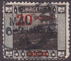 Saar 89  Signal Bridge, Saarbrücken O/P 1921