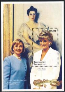 STAMP STATION PERTH Togo #1810 YTBF319 MNH S/S CV$7 Princess Diana/Hillary Clint