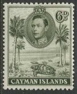 Cayman Islands - Scott 107 - KGVI Definitive -1938-43 - MH- Single 6d Stamp