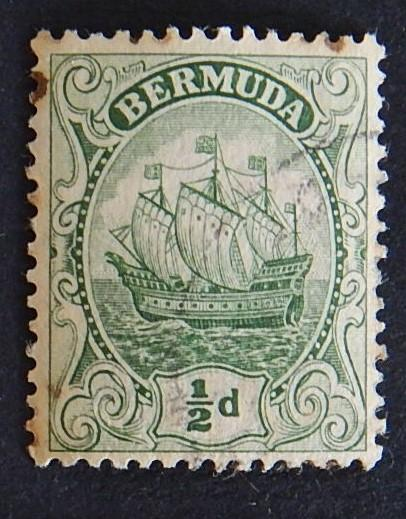 Postage stamp, Bermuda, №9-(7B-3IR)
