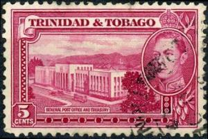Trinidad and Tobago #54 5c General Post Office and Treasury Used/H