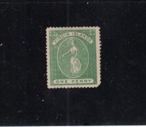 BRITISH VIRGIN ISLANDS # 3 MINT UNUSED