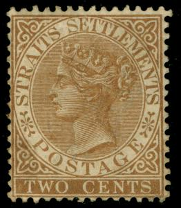 MALAYSIA - Straits Settlements SG50, 2c brown, UNUSED. Cat £375.