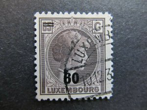 A4P27F92 Letzebuerg Luxembourg 1928-39 surch 60c on 65c used