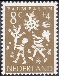 Netherlands # B360 mnh ~ 8¢ + 4¢ Holiday Folklore - Palm Sunday