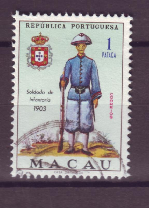 J17734 JLstamps [low price] 1966 macao used #410 military