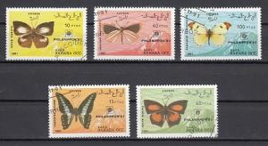 Sahara, 1991 Cinderella issue. Philanippon Stamp Expo issue. Butterflies. Used.