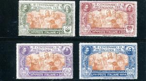 Italy #143-46 Mint VF NH