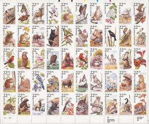 United States, 2286-2335, Wildlife Sheet (50), MNH