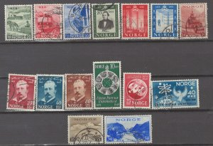COLLECTION LOT # 5145 NORWAY 15 STAMPS 1938+ CV+$13