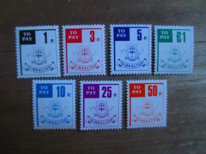 Gibraltar #J13-19 Mint Never Hinged- (1Z9) I Combine Shipping!