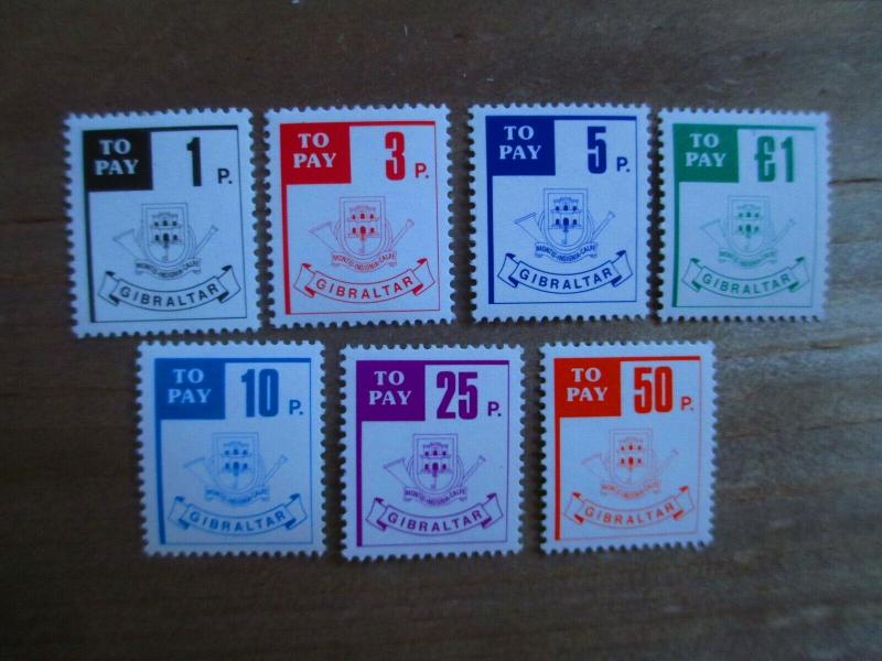 Gibraltar #J13-19 Mint Never Hinged- (1Z9) I Combine Shipping!